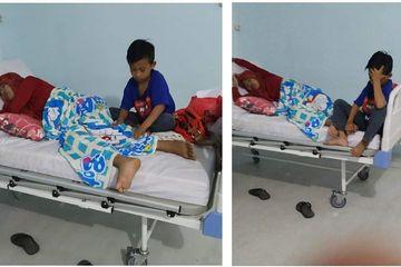 Bocah 9 Tahun Ini Antar Ibunya yang Sakit Ginjal Stadium Akhir ke Rumah Sakit Seorang Diri, Kisahnya Viral
