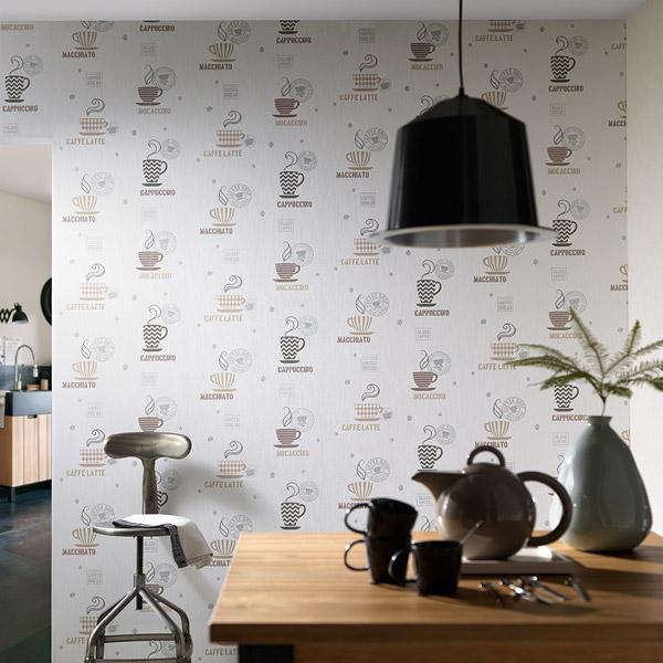 Papel pintado papel pintado la maison cocinas y ba os - Papel pintado para cocina ...
