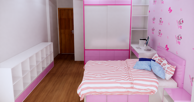 Sketchup 2017] 3D Bed Room For Girl | Free 3D Model Sketchup