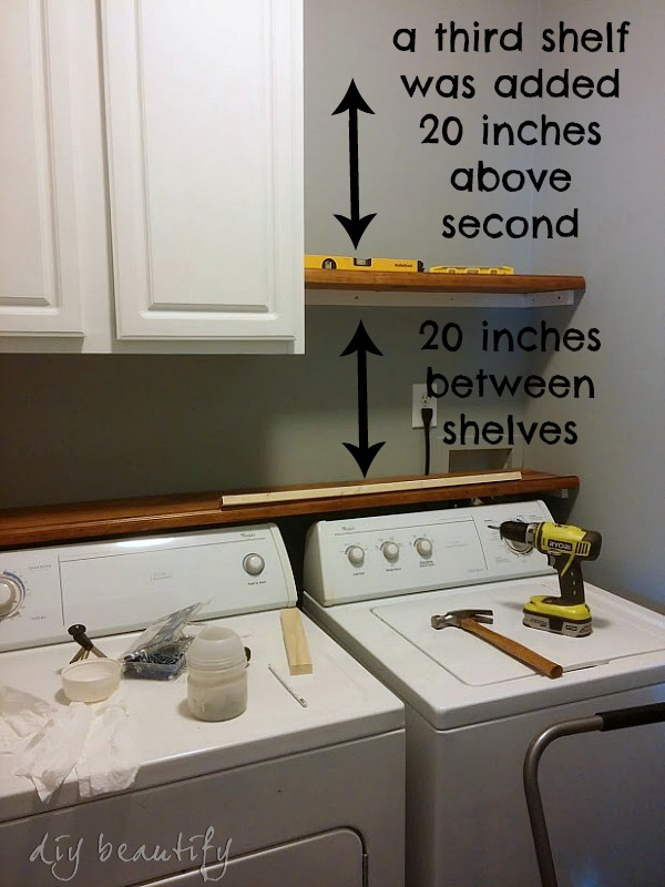 Adding Shelves And Storage To A Builder Grade Laundry Room Diy
