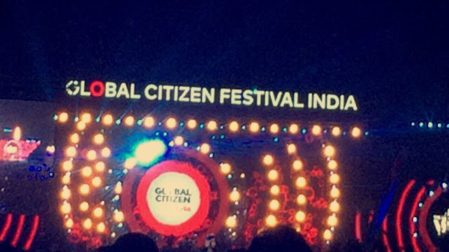 Celebrities at global citizen festival india 2016