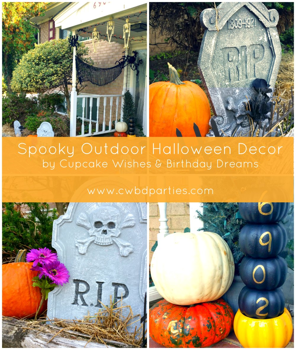 Cupcake wishes birthday dreams our spooky outdoor for B m halloween decorations