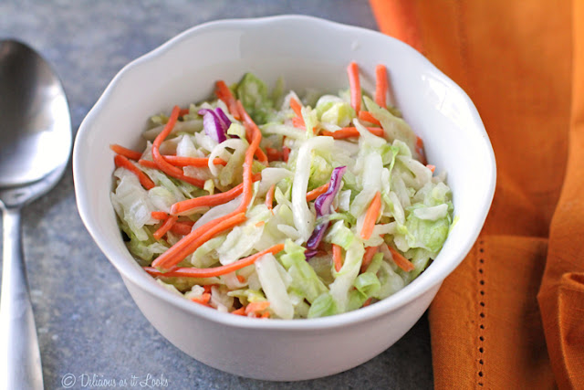 Low-FODMAP Creamy Coleslaw  /  Delicious as it Looks
