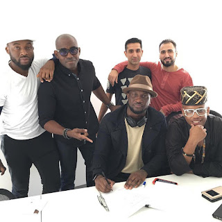 Peter Okoye Aka 'Mr P' Signs Deal With American Distribution Company 'Empire' (Pics)