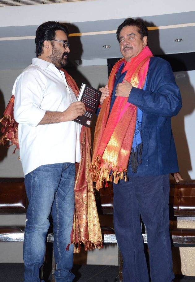 Mohan Lal and Shatrugan Sinha at the book Launch. When Legends Meet, Social Media goes Berserk. Chiranjeevi and Mohan Lal.