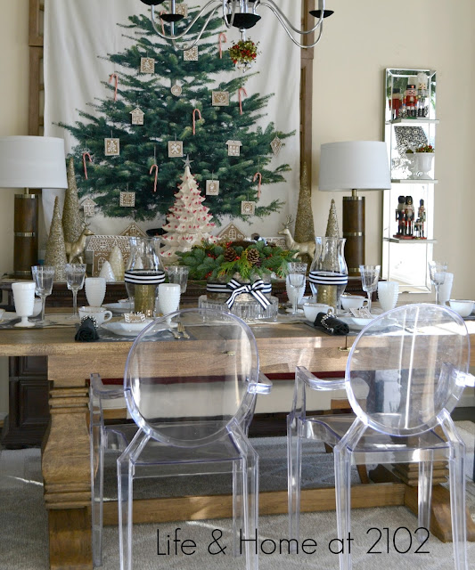 12 Rustic Dining Room Ideas: Life & Home At 2102: Modern Rustic Christmas Dining Room