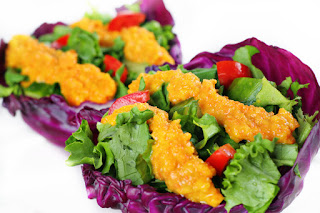 salad with carrot ginger dressing recipe