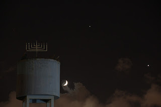 The moon Venus and Jupiter 20-Jun-2015