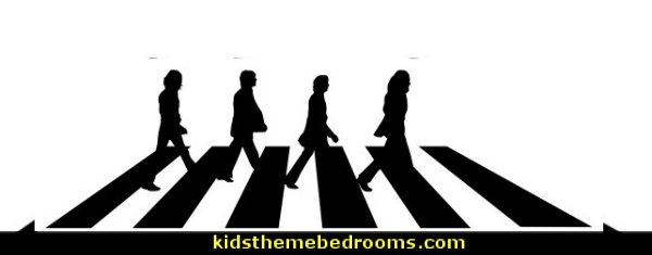 Beatles Abbey Road Wall Sticker  music bedroom ideas - bedroom music decorations - rock star bedrooms - music theme bedrooms - music theme decor - music themed decorations - bedding with musical notes - music bedroom decor - music themed bedroom wallpaper - music bedrooms - music bedroom design -  music bedroom accessories - music decor for walls - band decorations rock and roll - rock themed bedrooms - music bedding - music pillows - music comforters - music murals - Elvis
