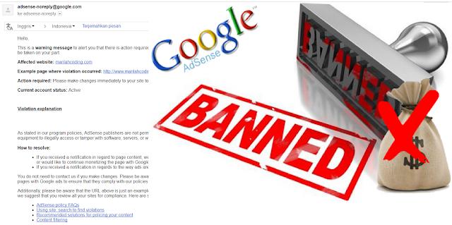 Cara Mengatasi Surat Peringatan dari Google Adsense 100% Work