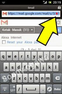 cara membuka gmail tampilan deskop di opera mini