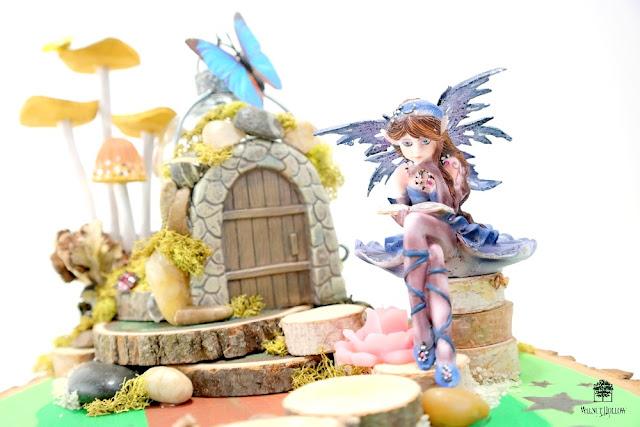 Whimsical Fairy Garden Centerpiece by Dana Tatar for Walnut Hollow