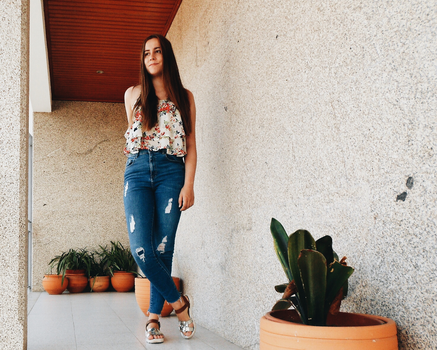 Outfit | Floral Print Top
