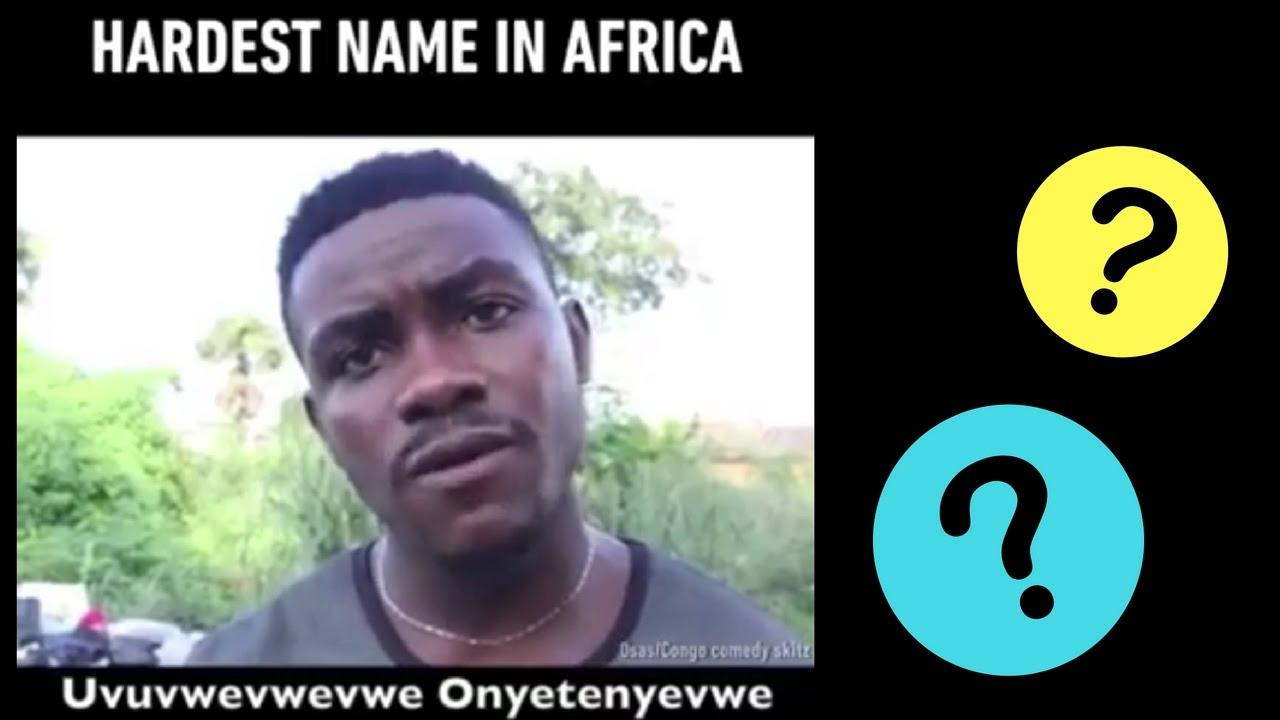 Viral, Pria Afrika Dengan Nama Yang Bakal Bikin Lidah Kamu Keseleo!