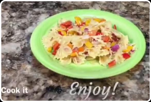 Bow Tie & Sweet Pepper Pasta Salad Recipe