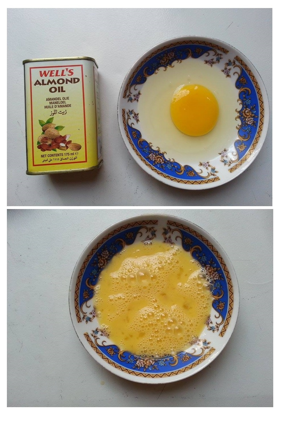 Egg and Almond Oil Mask for Hair Treatment