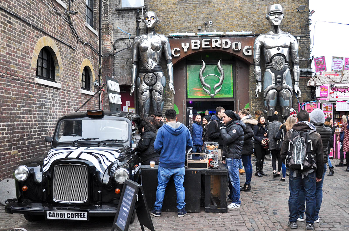 Cyberdog and Cabbi Coffee, Stables Market, Camden Town, London, England