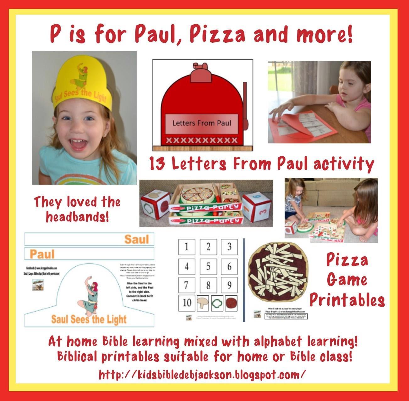 Bible Fun For Kids Preschool Alphabet P Is For Paul