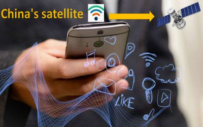 China's satellite, which is being provided for free WIFI all over the world