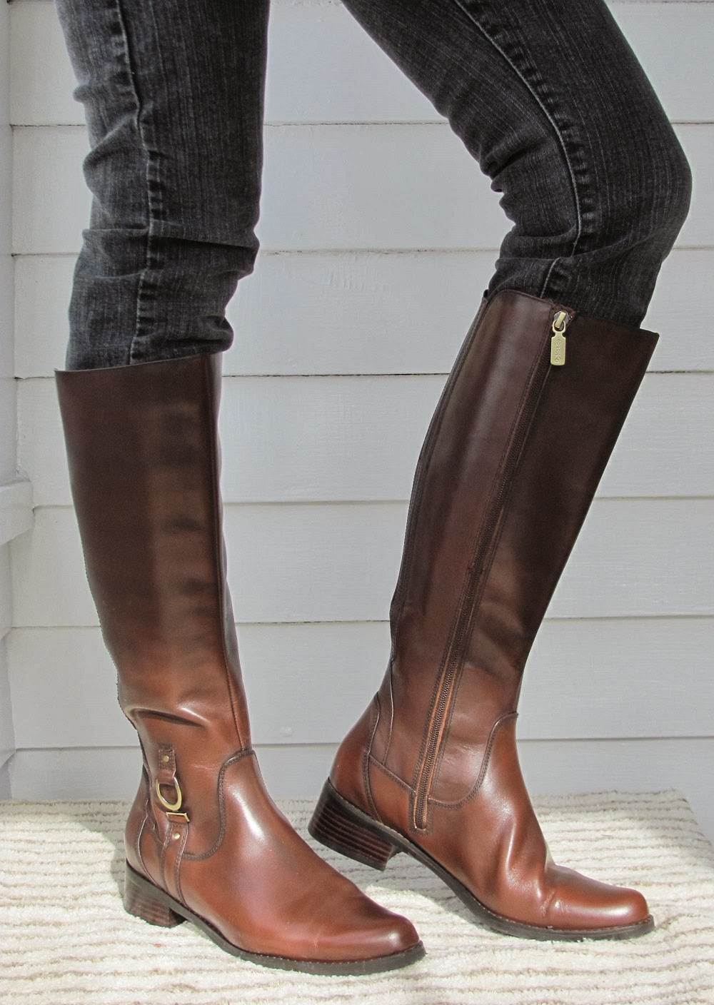 Sayin leather riding boot