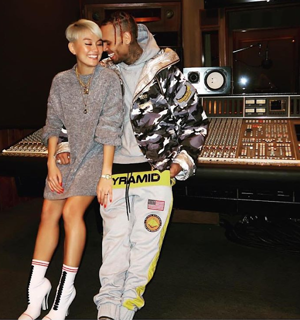 New couple alert? Chris Brown shares cute pic with singer, Agnez Mo