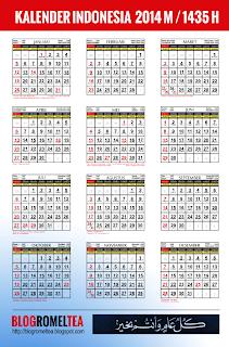 Kalender 2014 Masehi / 1435 Hijriyah