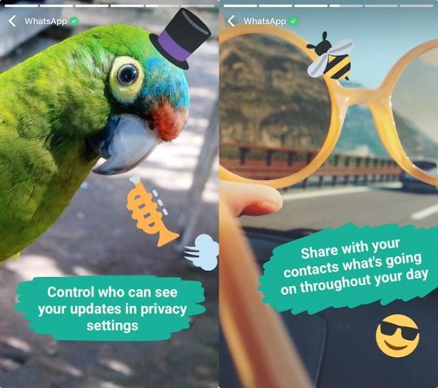 WhatsApp lança ferramenta para compartilhar fotos e vídeos como no SnapChat e Instagram