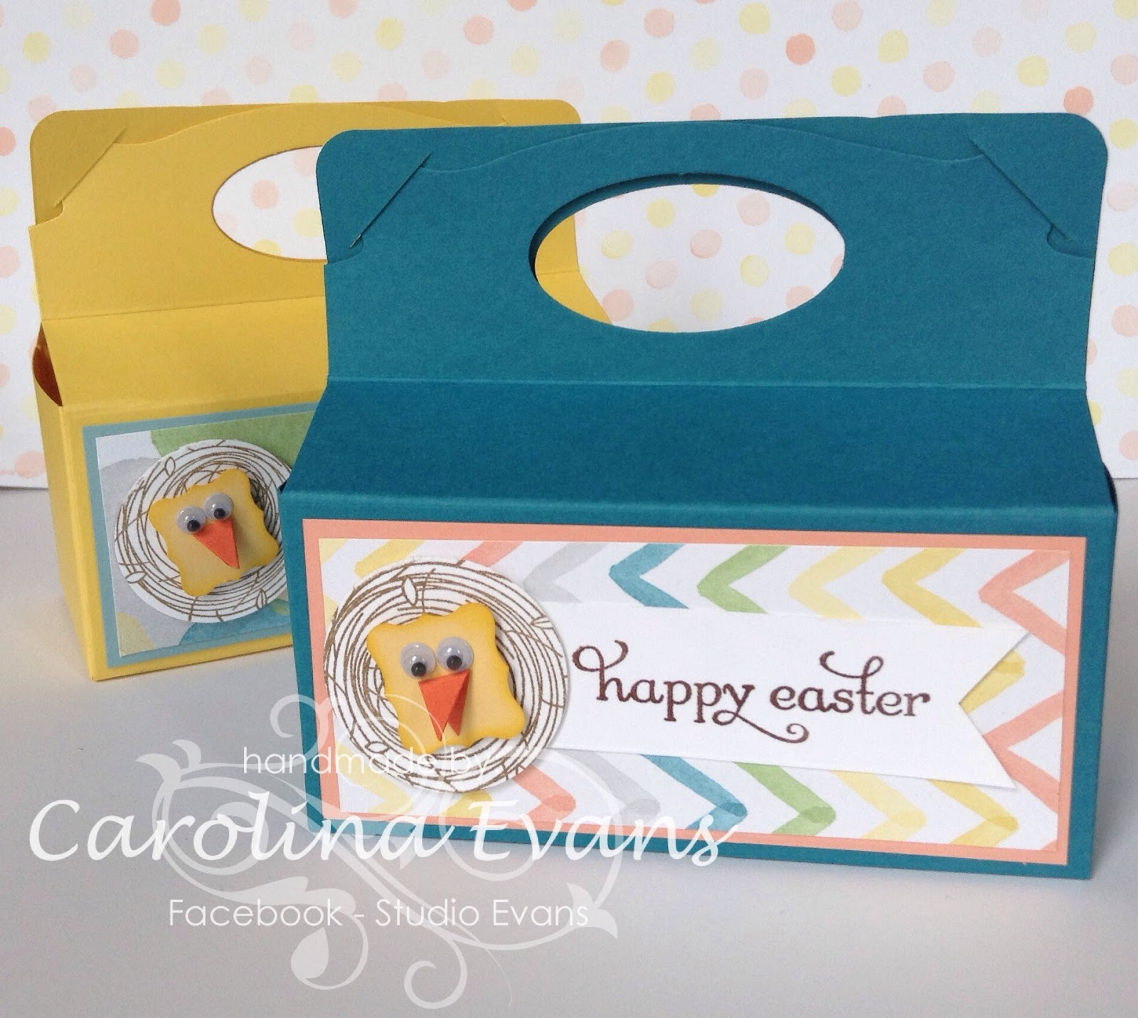 Stampin' Up! Easter Treat boxes Watercolour DSP Pop n Cuts Base