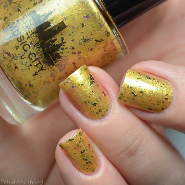 yellow frosty nail polish