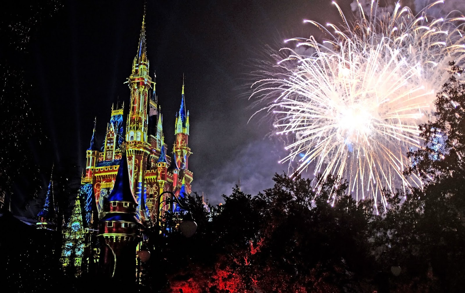 The Happily Ever After fireworks display at the Magic Kingdom, Walt Disney World