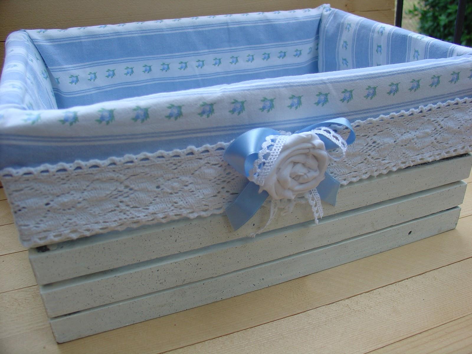 Creativa officina cesti e cassette rivestite in tessuto for Scatole rivestite in stoffa tutorial
