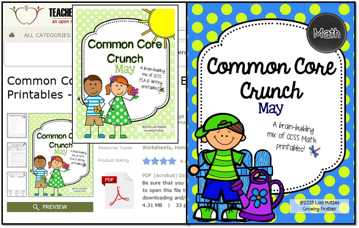www.teacherspayteachers.com/Product/Common-Core-Crunch-May-ELA-CCSS-Printables-Growing-Firsties-677395