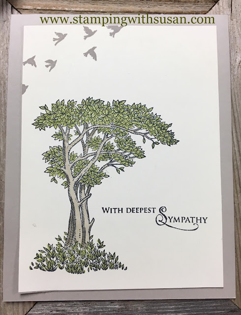 Stampin' Up!, www.stampingwithsusan.com, Golden Afternoon, Sympathy