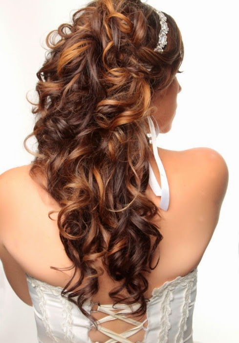 Long-Curled-Half-Up-Hairstyle-with-Ribbon