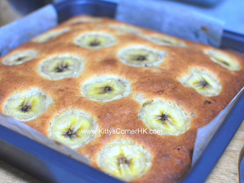 Banana Cake with Banana Topping DIY recipe 香蕉蛋糕 自家烘焙食譜