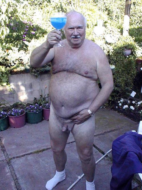Obese naked old men