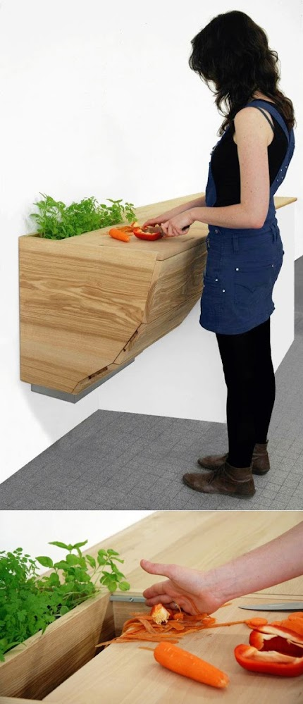 Built-in-herb-planter