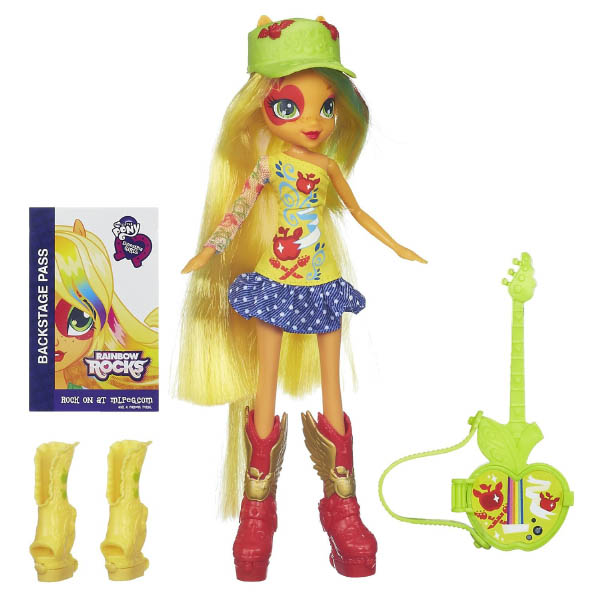 Equestria Girls Rainbow Rocks Applejack Doll With Guitar