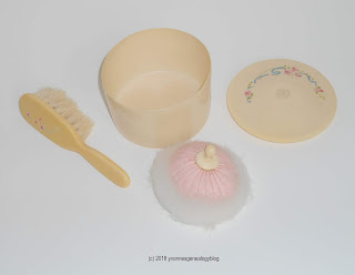 Vintage baby brush set