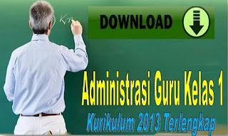 Administrasi Guru Kelas 1 Kurikulum 2013 Terlengkap