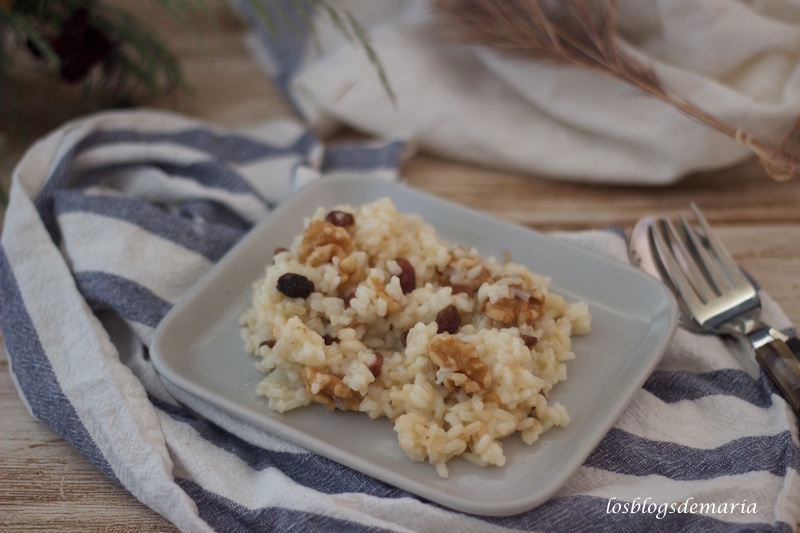 Arroz con pasas y nueces