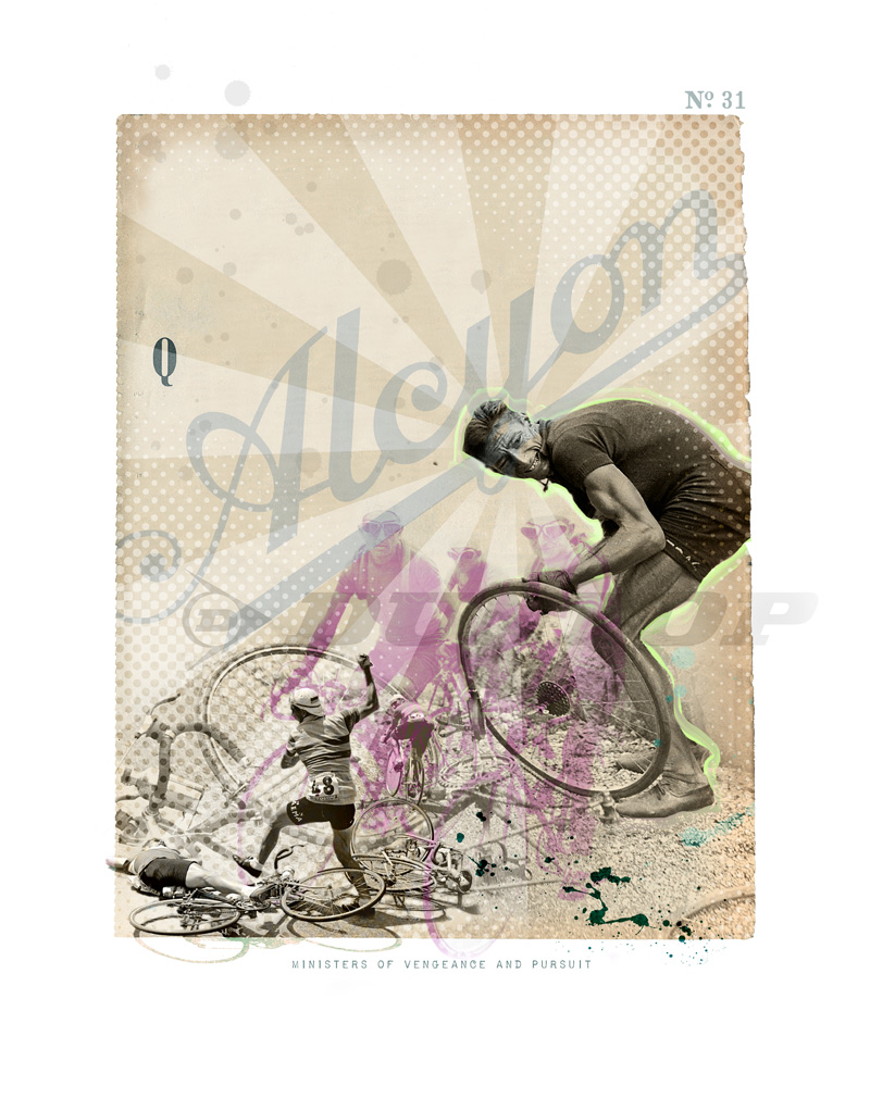 A Tour de France limited edition print artwork by artist James Straffon