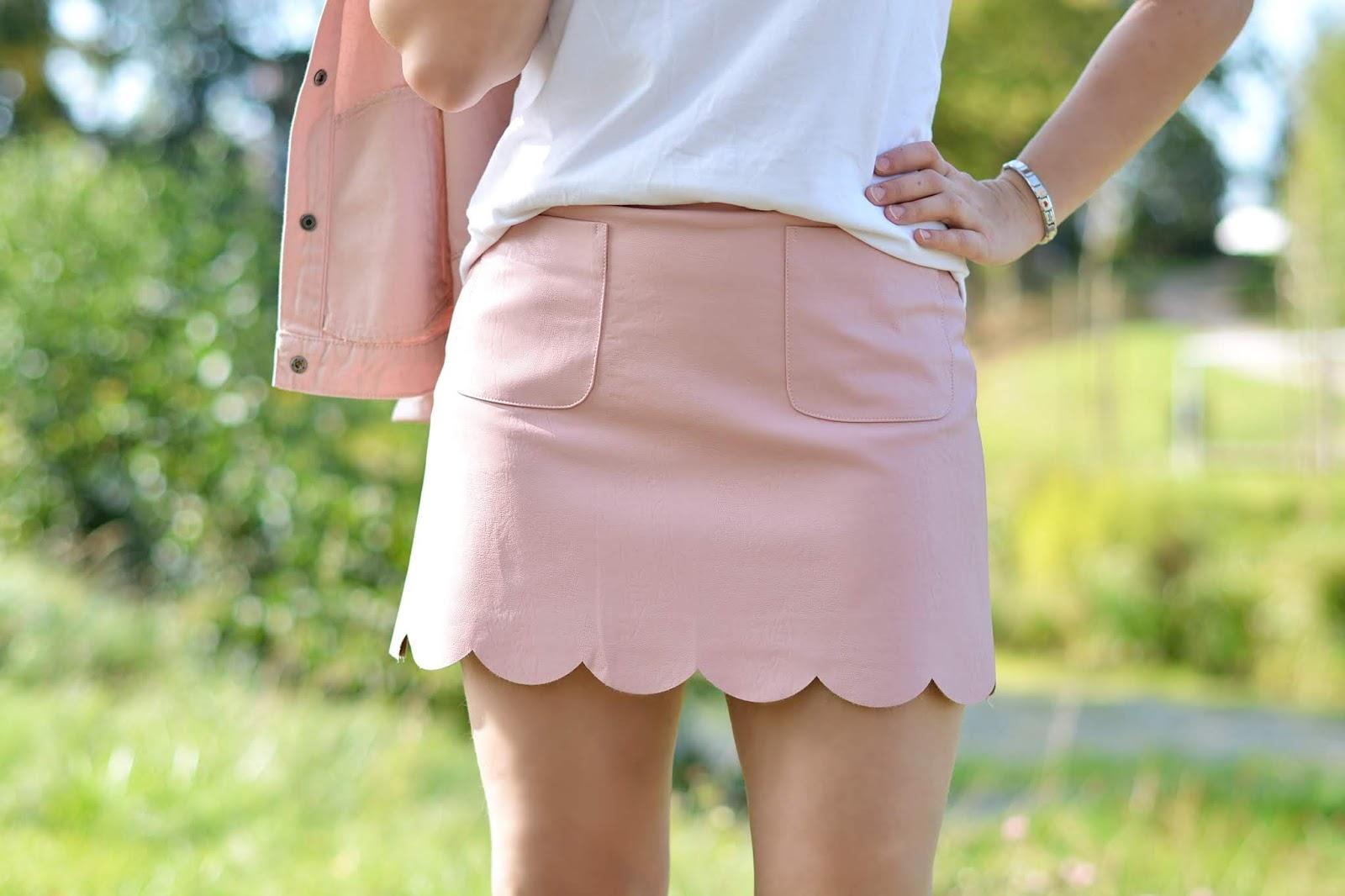 mini w kolorze różowym