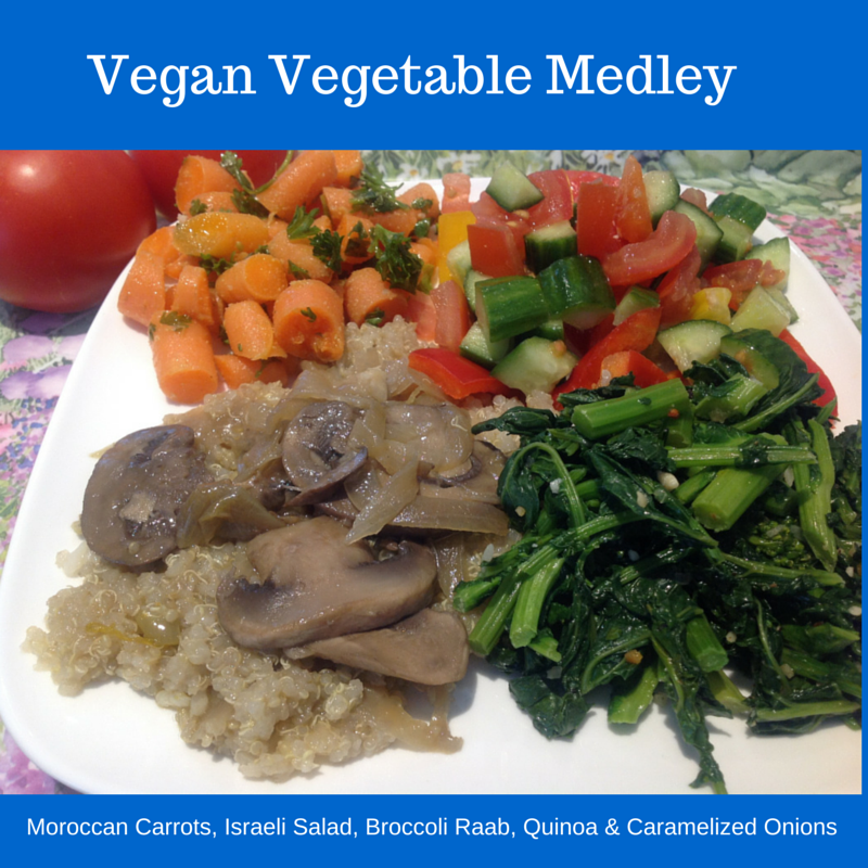 vegan cooked vegetable medley
