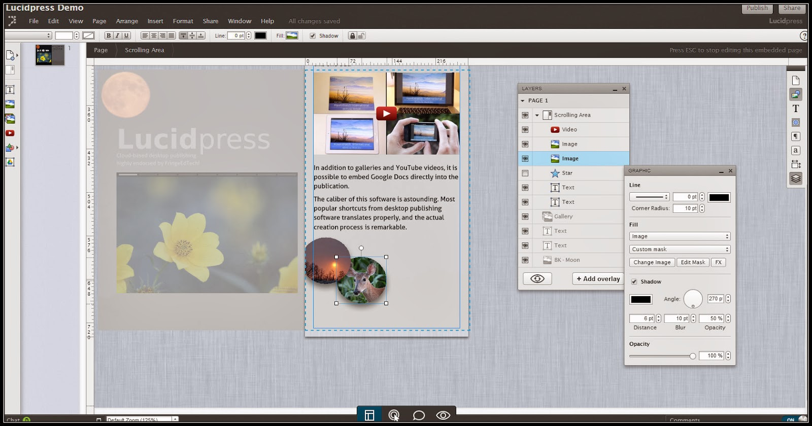 Snagit of Lucidpress in action.