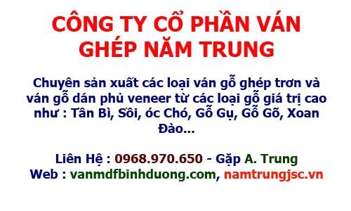 Nam Trung Chuyên bán ván ghép phủ veneer Tần Bì