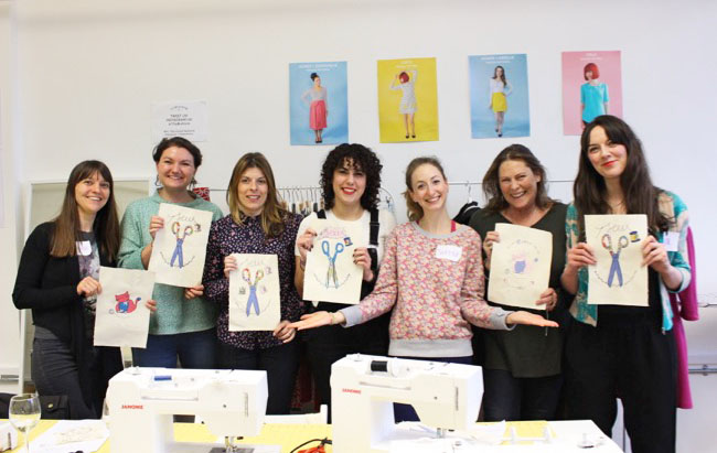 Freestyle Machine Embroidery class in London - Tilly and the Buttons