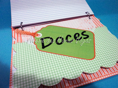 livro caderno de receitas personalizado