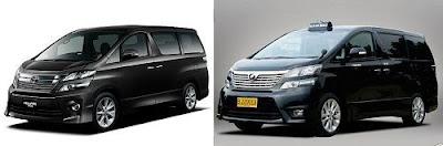 Toyota Vellfire menjadi Taksi