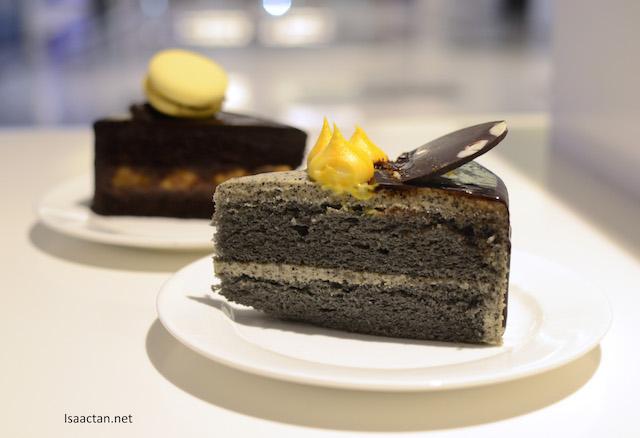 Black Velvet and Chocolate Banana Cake